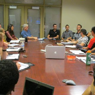 Students in large conference room